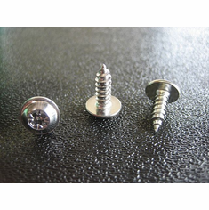 Chrome SEMS Tapping Screws M4-2-1.41x 12MM Fender Wheel