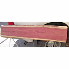 "Fireplace mantel Texas Red Aromatic Cedar Rustic Log Woodwork 61-3/4"" Long 2"" TK"