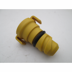 "FORD POWERSTROKE 6.7 Yellow Plastic Oil Drain Plug 3/8"" Square Drive"
