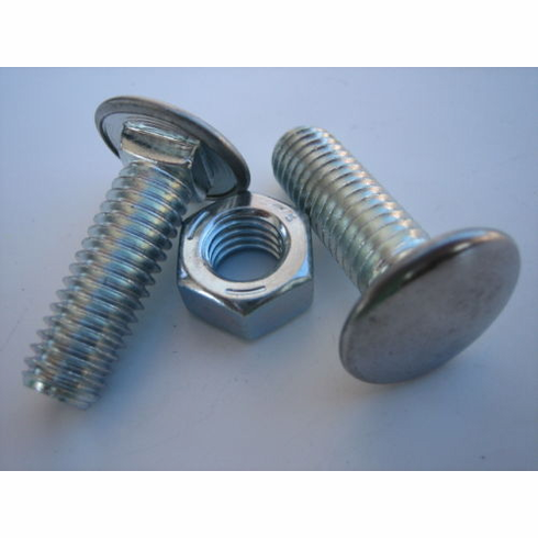 """GM Bumper Bolts 7/16""""-14 x 1-3/8"""" Stainless Steel Capped Pan Head/ Hex Nuts"""