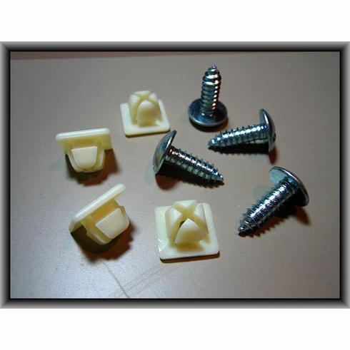 License Plate Screws Nuts 2-Pair Car Dealers #14 X 3/4""