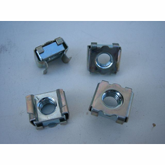 Metric M6-1.0 Cage Nuts (25) Panel Range 1.5-2.5 MM