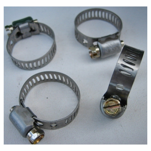 """Mini Hose Clamps #6 Stainless Steel Range 1/2""""-7/8"""""""