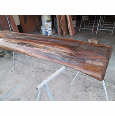 "Rustic Red Cedar Fireplace Mantel Table Floating Rustic Beam 62"" X 3-1/4"" Thick"