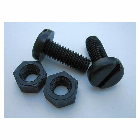 Slotted Pan Head Plastic License Plate Screws M6-1.0 X 16MM