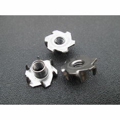 "Tee Nuts 1/4""-20 6-Prong Stainless Steel 300-Series (25)"