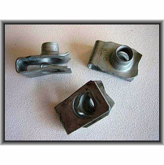 Zinc M8 - 1.25 Metric U Nuts 12667 (15) Fender Panel Nuts
