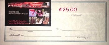 $125 MorCouture Gift Certificate.