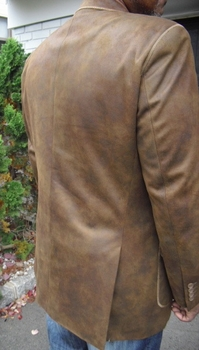 2 Button Cowhide Look Blazer (view#2)