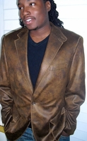 2 Button Faux Cowhide Blazer