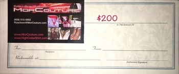 $200 MorCouture Gift Certificate