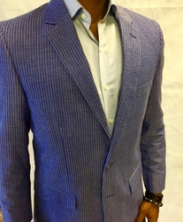 Afazzy Blue Seersucker 2pc Suit