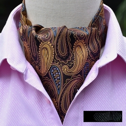 Backordered--Amber Blue Silk Ascot