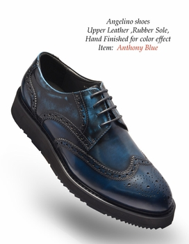 Angelino Anthony Blue Shoes (Special Order)