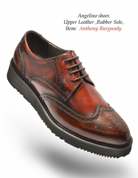 Angelino Anthony Burgundy Shoes (Special Order)