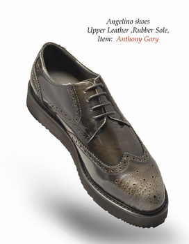 Angelino Anthony Gray Shoes (Special Order)