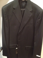 Angelino Black 3 button Suit Suit size 44L