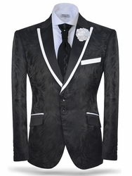 Angelino Black Brush Blazer