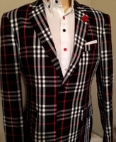 Angelino Black Check Blazer 48L