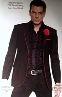 Angelino Black Red Trim Blazer 40R