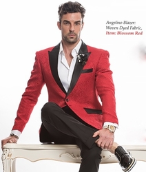 Angelino Blossom Red Blazer