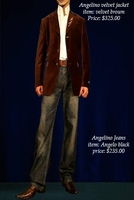 ANGELINO BROWN VELVET BLAZER  42R