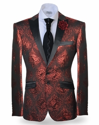 """""""Blowout Pricing"""" Angelino Carlo Red Blazer"""