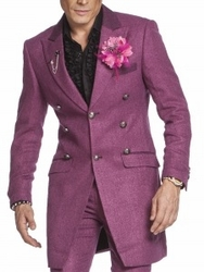 Angelino Como Coat Suit Purple-special order