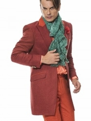 Angelino Como Coat Suit Rust-special order