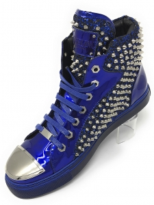 Angelino H.Spike Blue Hightop Sneakers