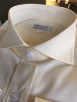 Angelino Ivory Spread Collar Dress Shirt