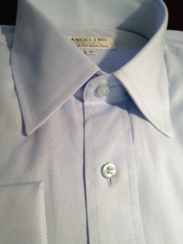 Angelino Light Blue Twill Dress Shirt