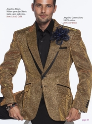Angelino Lucio2 Gold Blazer (optional pants)