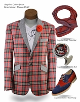 Angelino Marco2 Red Blazer