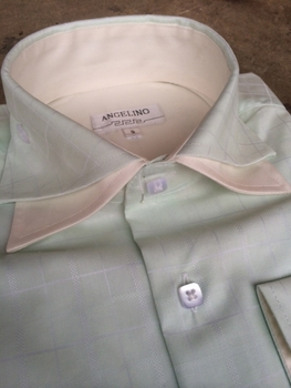 Angelino Mint Double Spread Collar Shirt