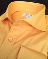 Angelino Orange Yellow Cutaway Collar Shirt size2XL(17.5)