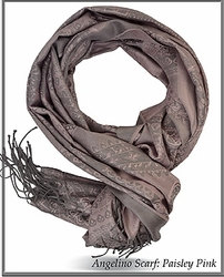Angelino Paisley Pink Scarf