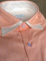 Angelino Peach Double Spread Collar Shirt