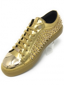 Angelino R.Spike Gold Low Sneakers