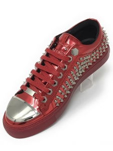 Angelino R.Spike Red Low Sneakers