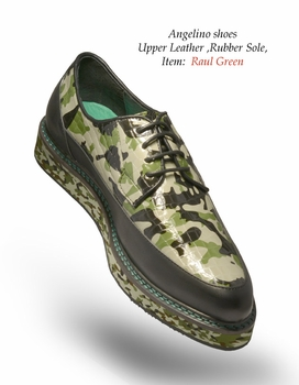 Angelino Raul Green Shoes (Special Order)