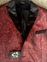 Angelino Red Black Blazer size50L