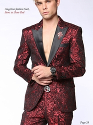 Angelino Red Rose Suit-special order