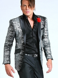 Blowout Sale -Angelino Sequin Silver Blazer 42R