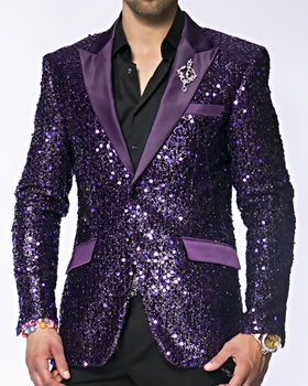 Angelino Stella Purple Sequin -special order