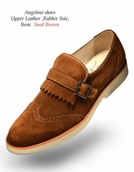 Angelino Suede Brown Shoes (Special Order)