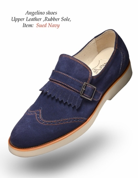 Angelino Suede Navy Shoes (Special Order)