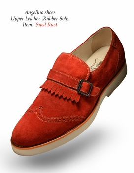 Angelino Suede Rust Shoes (Special Order)