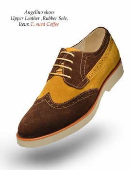 Angelino T Suede Coffee Shoes (Special Order)