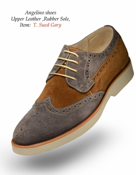 Angelino T Suede Gray Shoes (Special Order)